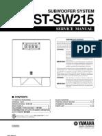 Yamaha Yst-sw215 Service Manual