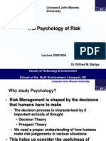 Psychology of Risk 20091009