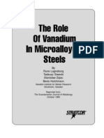 Role of v in MA Steels