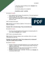 Adverbs Modify Verbs