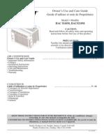 Danby DAC 5110M Air Conditioner Manual