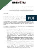 Carta ao setor - ABENUTRI