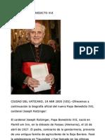 Biografia de Benedicto Xvi
