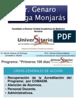 Dr. Genaro Ortega Monjarás; Propuestas