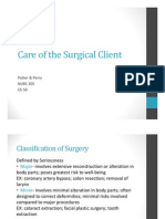 Care of the Surgical Client Ch 50