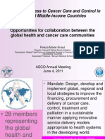 Overview of the GTF.CCC and High-level Meeting of the UN  General Assambly on Non-communicable Disease Prevention and Control 040611