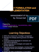 Strategy Formulation Implementation