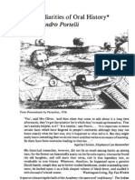 Portelli a. the Peculiarities of Oral History