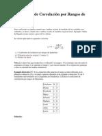 Coeficiente de Correlación por Rangos de Spearman
