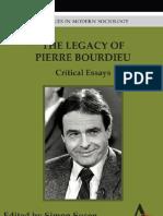 the Legacy of Pierre Bourdieu Critical Essays