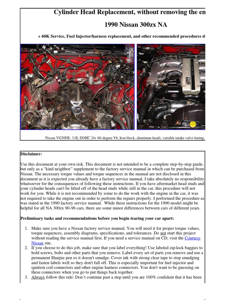 Cylinder Head Replacement - In-Car | Throttle | Fuel Injection