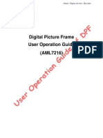 Picture Frame AML7216 User Operation Guide
