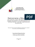 Democracia y Educacion Perez
