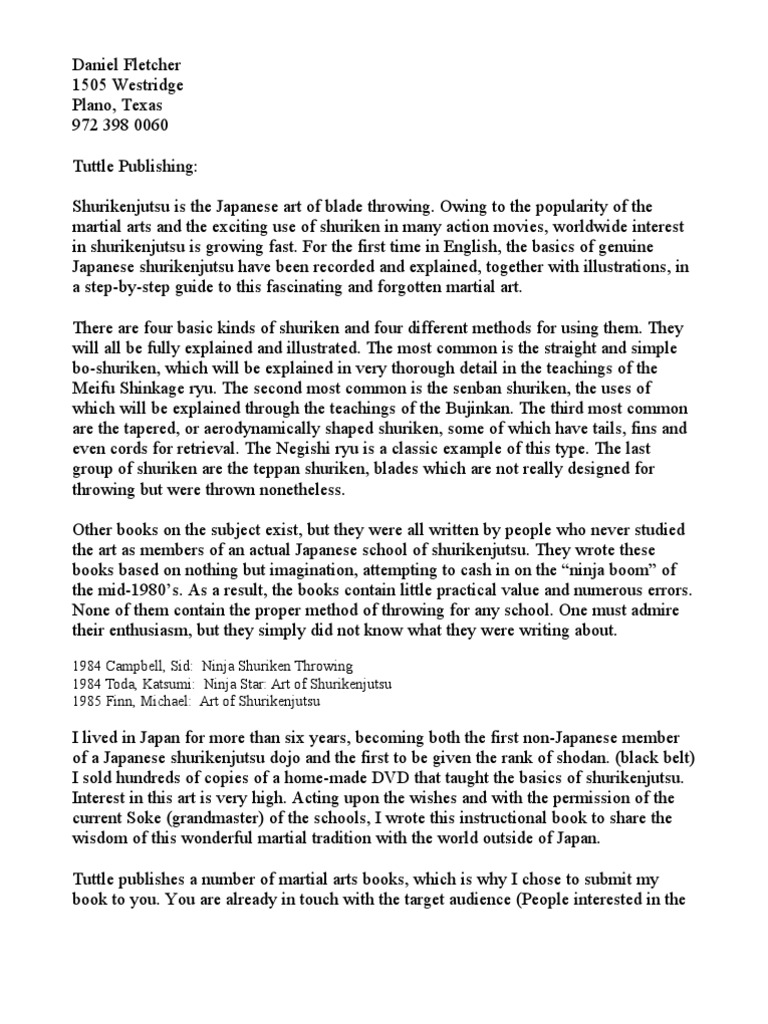 Sample proposal letter japanese martial arts combat sports stopboris Image collections