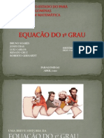 Equação do 1º Grau