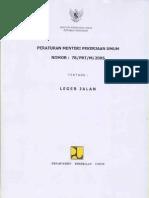 Peraturan Menteri PU 78-2005 - Leger Jalan