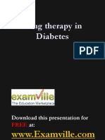 Diabetes and Drug Therapy