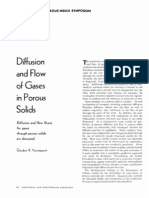 Diffusion and Flow of Gases in Porous Solids