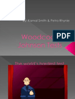 Woodcock Johnson Tests