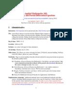 Detailed Syllabus Apm105
