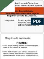 Maquina de Anestesia Hoja de Registro y Circuito Anestesico