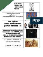 PEGATINAS TIPNIS TERRITORIO EN RESISTENCIA
