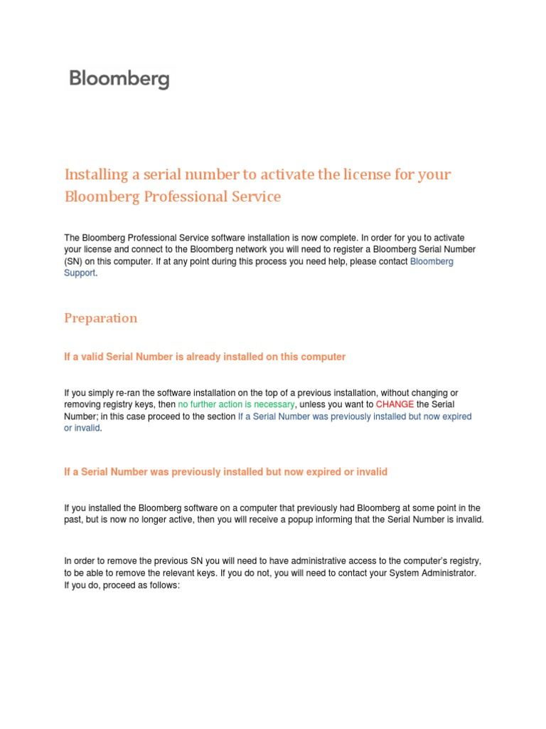 Bloomberg Installation Guide   Ip Address   Virtual Private Network
