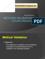 Method Validation on Drug Substances