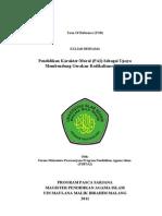 Term of Reference Pendidikan Karakter