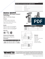 Series QC894 KwikStop with Quick-Connect Technology Specification Sheet