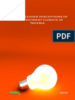 Business leader perceptions fo the enabling environment in Nigeria 2009