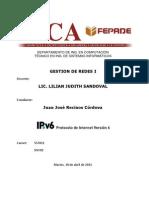 IPv6 Protocolo de Internet JJ