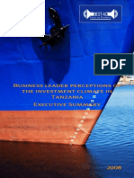 Business leader perceptions of the enabling environment in Tanzania 2008
