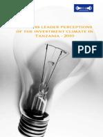 Business leaders perceptions in Tanzania 2010