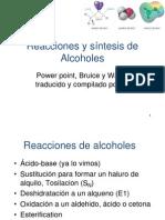 Reacciones y Sintesis de Alcoholes