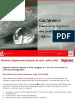 Conférence Baromètre Pratiques de veille 2008 DIGIMIND