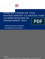 Agri-business leaders perceptions of the enabling environment in Zimbabwe 2011