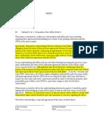 7 Michael L. Darland and Louis Leclezio Memo Prepared by Brian J. Dorsey Confirming Their Agreement