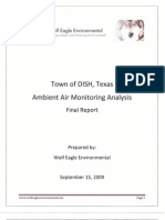 Alfredo Al Armendariz - Final Report - Town of Dish Texas - Ambient Air Monitoring Analysis - Prepared by Alisa Rich, MPH, PhD - September 15 2009