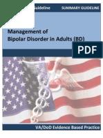 VA-DoD Summary Guidelines for Bipolar Disorder