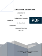 Organizational Behavior
