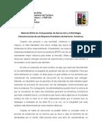 Servucción y Estrategia Comunicacional. By Claudio Suazo Plasencia.