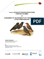 670300-3 Investigation of Starling Populations in BC