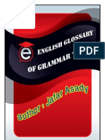 English Glossary of Grammar Terms