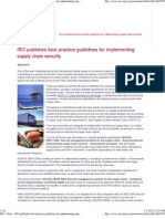 ISO - News - IsO Publishes Best Practice Guidelines for Implementing Supply Chain Security