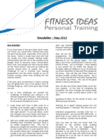 Fitness Ideas Newsletter - 1 May 2012