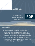 Leadership Style of Bill Gates