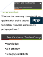Technology Integration, Teacher as Change Agent