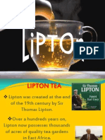 market share of tea industry lipton