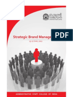Strategic Brand Management ASCI June 25-27,2012